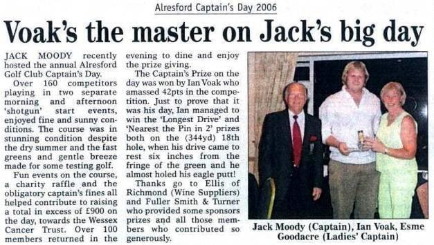 Ian Voke Captains Day 2006
