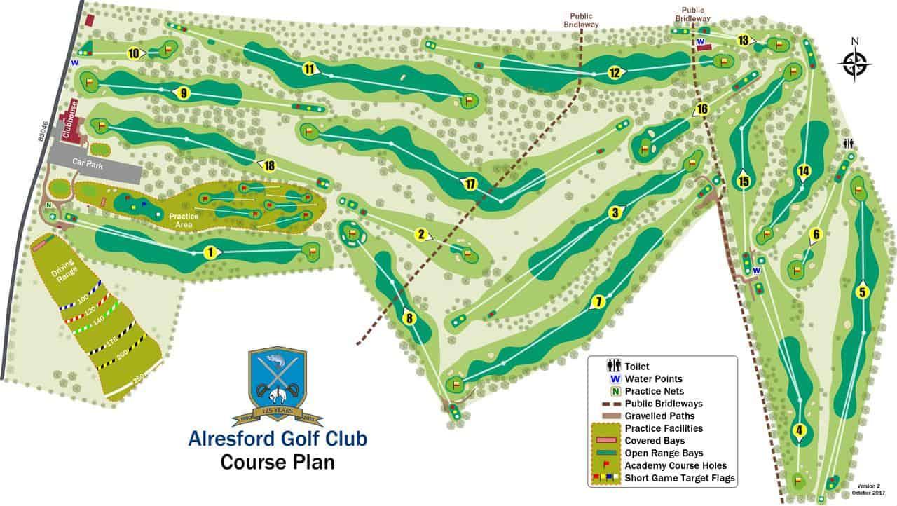 course plan layout alresford golf club